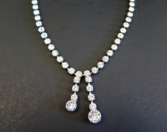 Vintage Coro Rhinestone Necklace Diamante Wedding Bridal Accessory