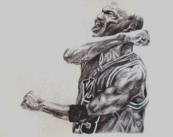 Michael Jordan Pencil Drawing on High Quality A4 Paper