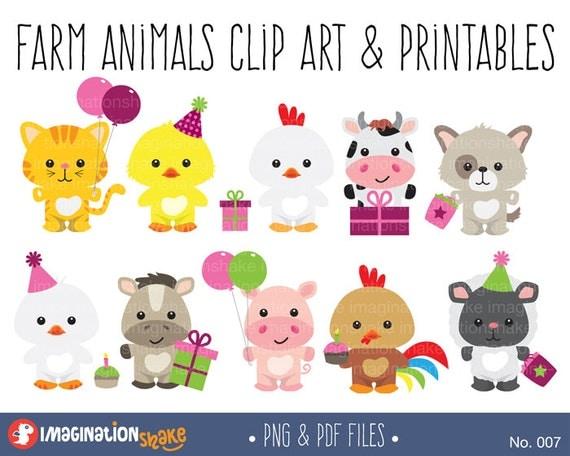 Pink Barnyard Party Clip Art Amp Printables Set Farm Clipart