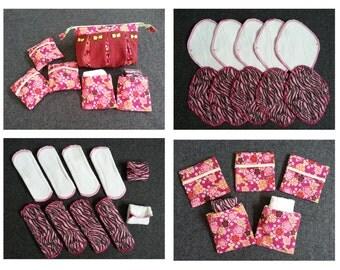 FREE (4) panty liners, Panty liners, Cloth pads, Eco pads, Mama pads, Reusable pads, Sanitary pads, Birthday present, Christmas present