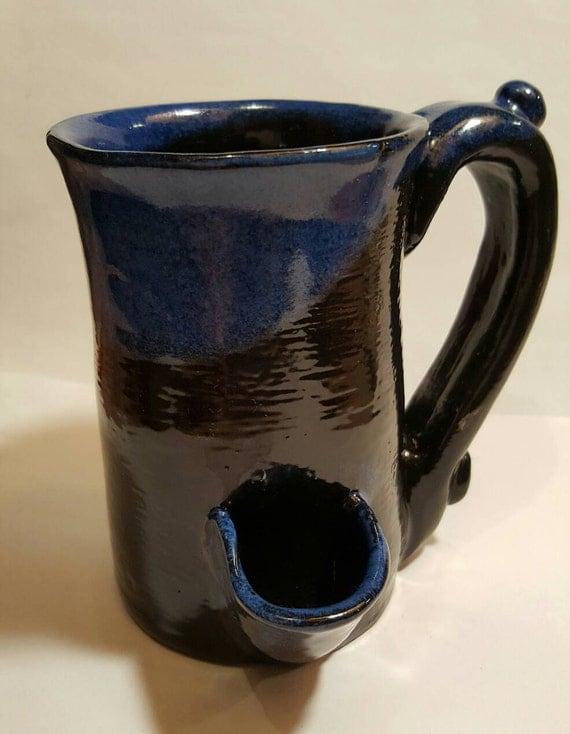 Wake And Bake Coffee Mug With Smoking Pipe