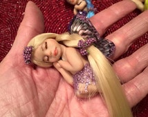 Tiny Fairy with Lavender to Blonde Color Changing Hair