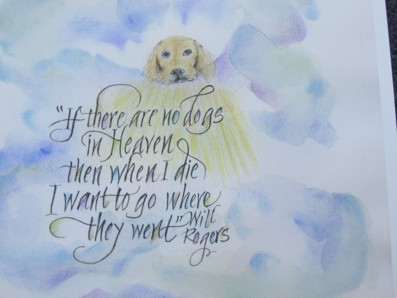 DOG QUOTES Dog Print Dogs In Heaven Pet Memorial 10