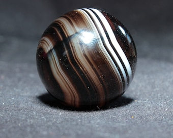 Natural Agate Marble, circa 1900, from Idar-Oberstei, Germany - 2.8 cm - 27 grams