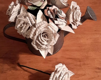 Recycled Book Rose