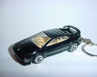 3D Lotus Espirit turbo custom keychain by Brian Thornton keyring key chain finished in black 007