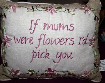 Mum Small Cushion with Saying on