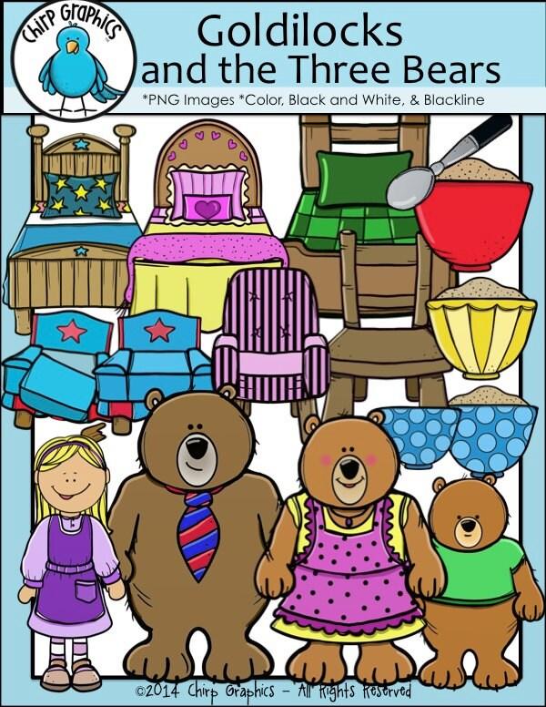 Goldilocks And The Three Bears Clip Art Set Chirp Graphics