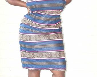 Sale -  Strapless Ankara Dress