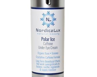 FREE SHIPPING - Polar Ice Eye Cream Cream - 1/2 oz - Reduces Under Eye Darkness & Fine Lines - Caffeine + Wrinkle Blurring Microspheres