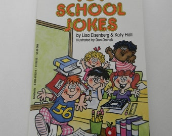 Joke book, Vintage book, School Jokes Book,  Paper Ephemera