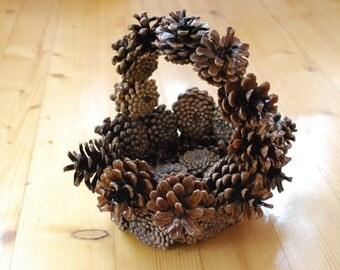 Basket cones Basket Handmade basket Hand Made basket cones Nautical Decor Nautical Decorations Basket for sweets and fruits
