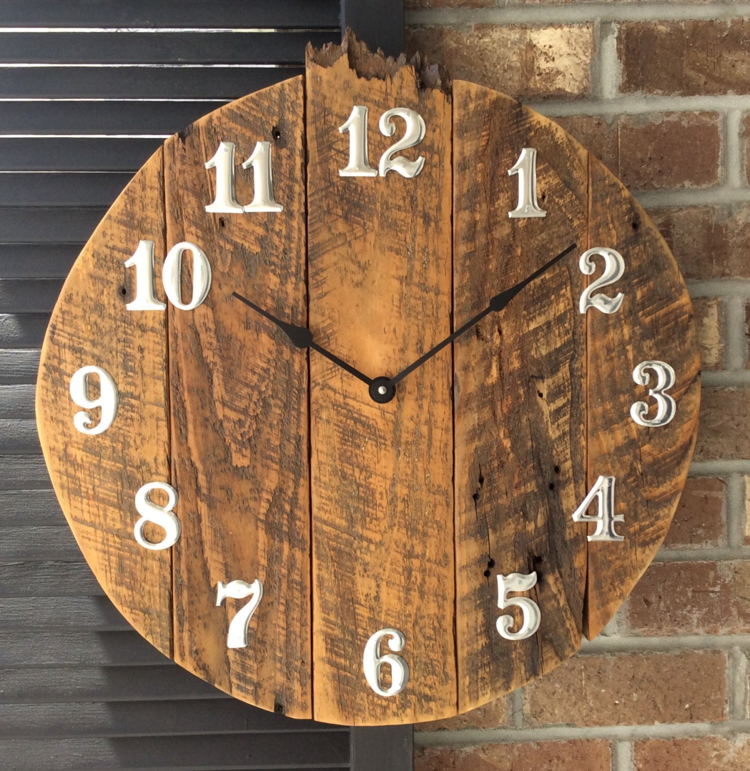 Large Wall Clock Rustic Wall Clock Large Wall Clocks