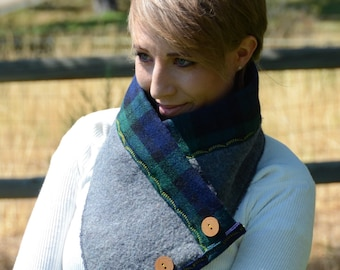 Wool Blackwatch Neck Cowl