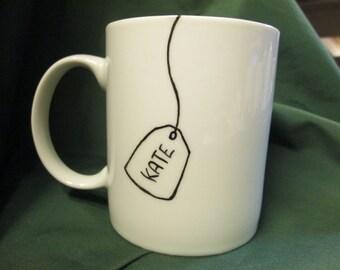 TEABAG Name tag . Personalise your mug!