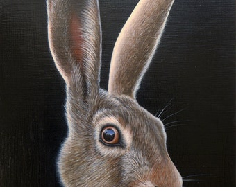 The Hare - Oil Painting on Wood Panel