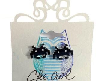 Handmade Space Invader Earrings