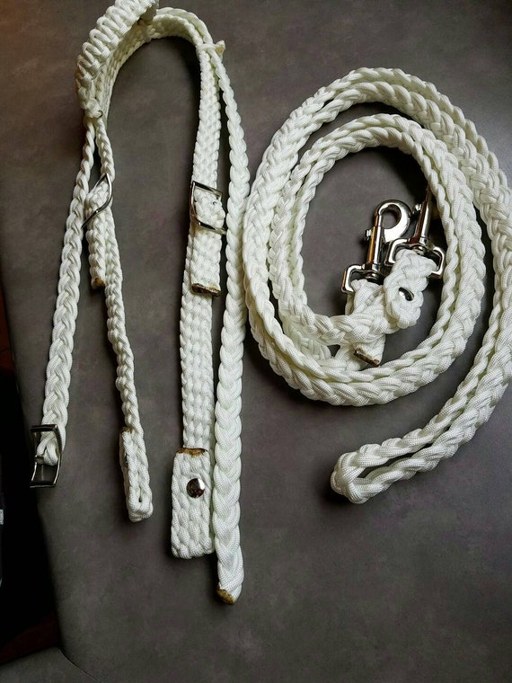 Horse Tack: Paracord Bridle/ Barrel reins -Standard horse size  BRIDLE w/ Barrell REINS made of 550 paracord, adjustable buckles,snaps