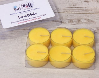 Lemon Colada - Tea Lights, Scented Candles, Scented Tealights,Tealight Candles , Homemade Candles, Handmade Candle, Lemon Tea Lights