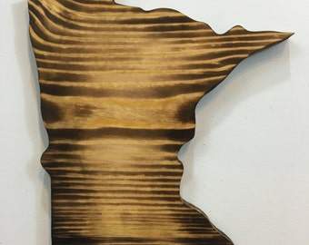 Handmade MInnesota State Wall Hanging Wood Cutout