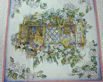 Brambly Hedge Panel RARE Rose & Hubble 1998 OOP
