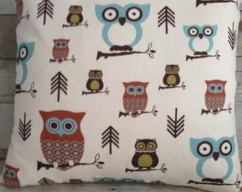 Owl Pillow,Woodsy theme pillow,Cute Owl Pillow