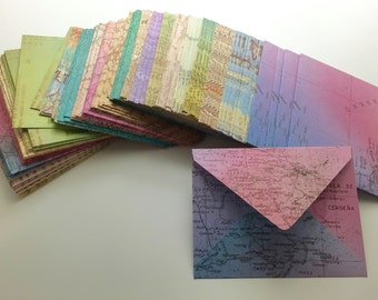 Handmade Envelopes - Map Prints