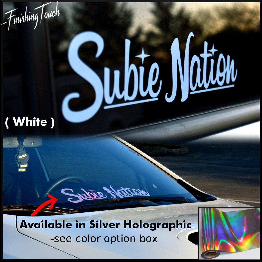 Subie Nation Custom Vinyl Windshield Decal Sticker For Subaru - Custom vinyl decals portland oregon