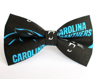 Carolina Panthers Bow Tie | Bow Tie for Men | For Him | Bowtie | Self Tie | Dog Bow Tie | Mens Bow Tie | Boys Bow Tie | NFL | Sports Bow Tie