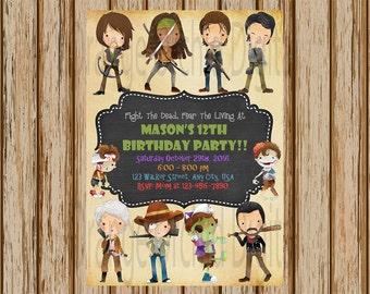 Zombie birthday Etsy
