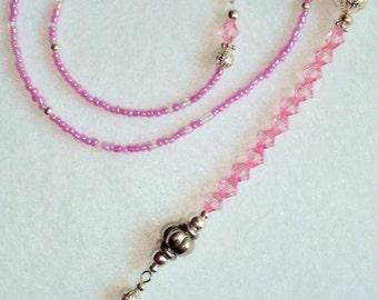 Beaded Bookmark - Pink
