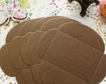 Mini Size DIY Textured Envelopes /Bronze Shimmer/5 PCS/6x9cm