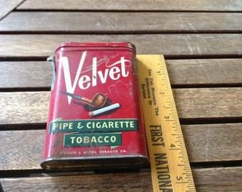 Velvet Tobacco Tin.