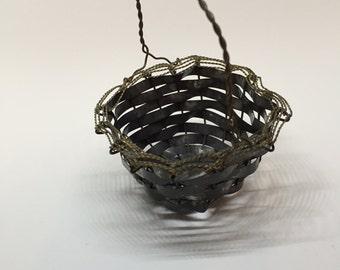 Mini Basket, Woven Metal Basket