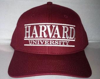 Vintage Harvard Crimson Snapback hat cap The Game bar iv league deadstock NCAA college