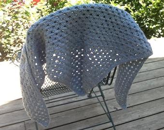 Wool Crochet Triangle Shawl