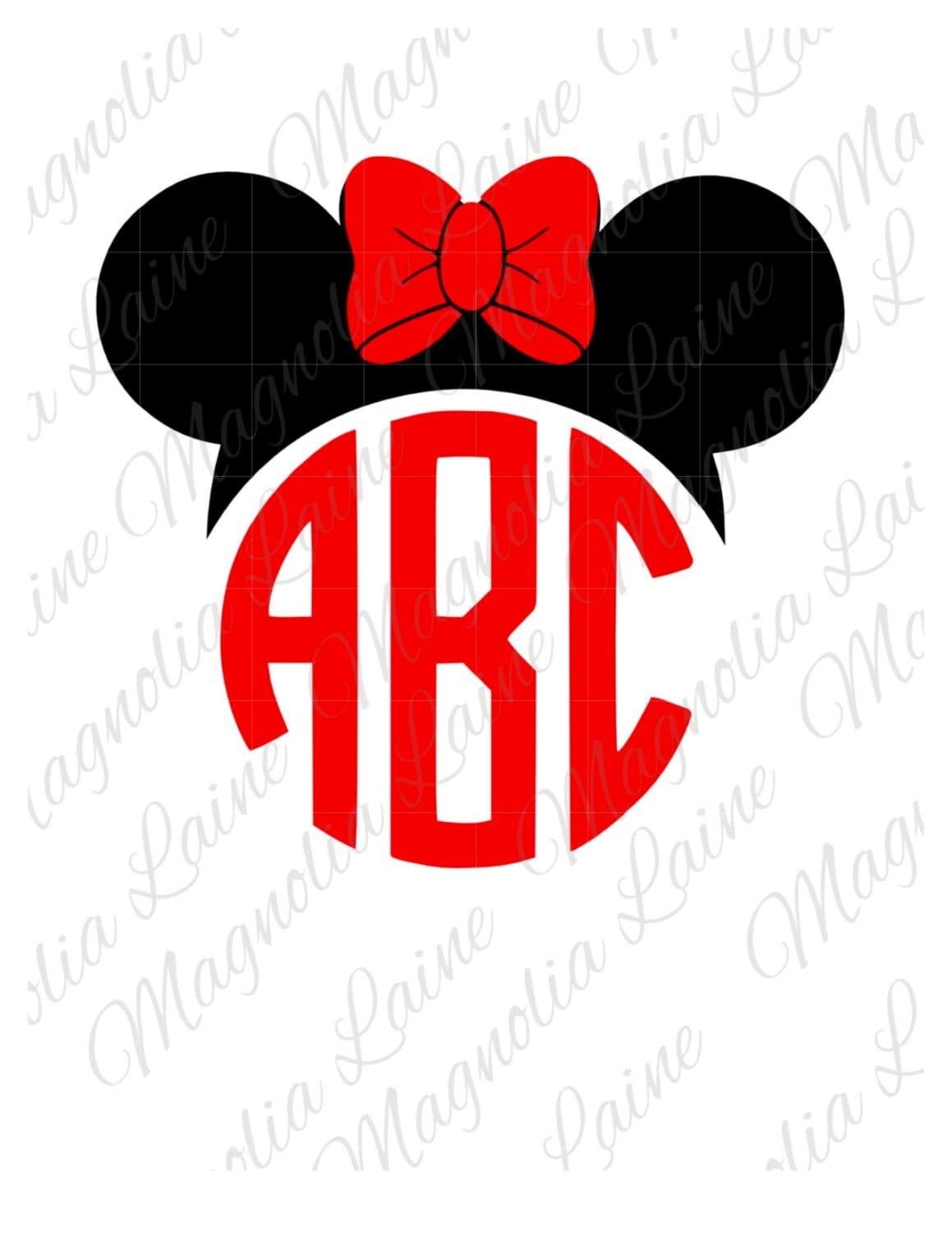Minnie Mouse Monogram Minnie Mouse Ears Minnie By