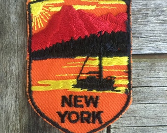 New York Vintage Souvenir Travel Patch from Voyager