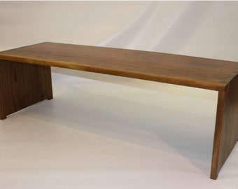 Walnut waterfall coffee table