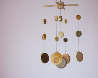 Wooden Baby Mobile/ Nursery Mobile/  Baby Shower Gift/ Baby Room Decor