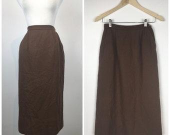 Vintage 50s skirt / vintage 60s skirt / 1950s skirt / 1960s skirt / wool skirt / pencil skirt / wiggle skirt / M1262
