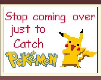 Pokemon Cross Stitch Pattern: Pokemon Go Embroidery Needlepoint Sampler Pikachu Buy 2 Patterns Get 1 FREE