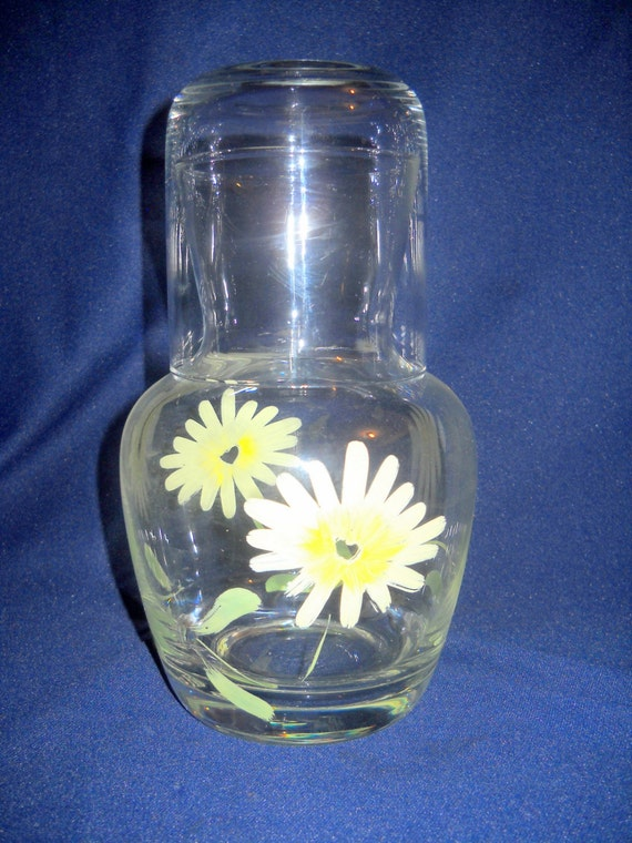Bedside Carafe With Drinking Glass