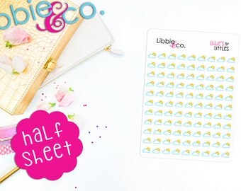 Libbie's Littles Partly Cloudy Life Planner Die-Cut Stickers!  Perfect for Erin Condren, Happy, Mambi,Plum Paper and Personal Planners! LL29
