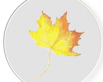 MORE for FREE - Leaf - Counted Cross stitch pattern PDF - Instant Download - Cross Stitch Pattern - Flowers-Love- Needlepoint #1429