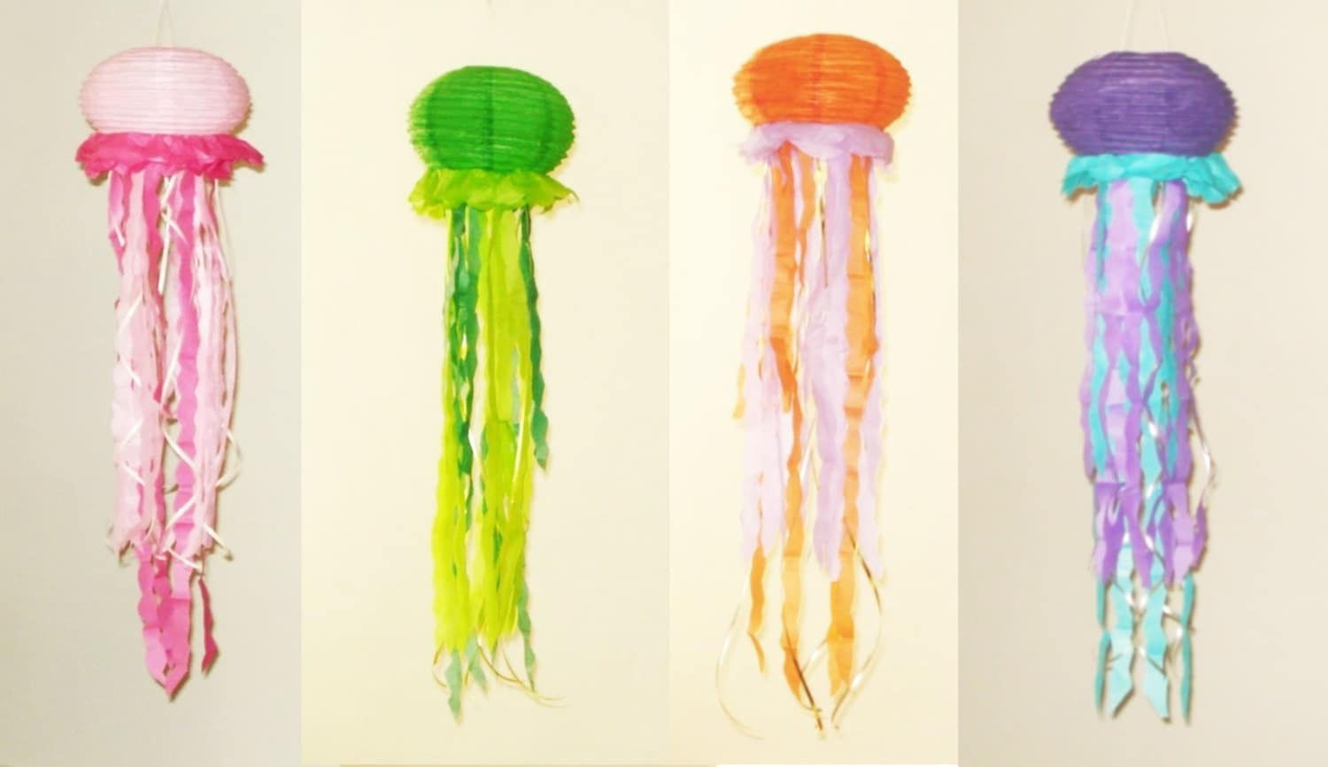 Diy Jellyfish Decorations Jellyfish Lantern Etsy