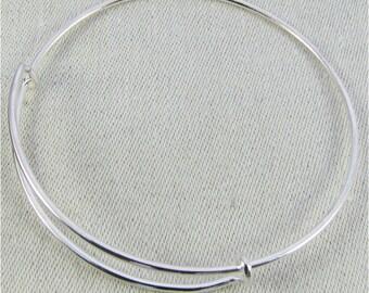 1 or 3 Bracelets, Charm Bracelet, Adjustable Bracelet, Silver Bracelet, Expandable Bracelet, Adjustable Bangle, Bracelets, 14ga wire, FIN006