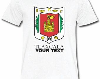 Tlaxcala Mexico T-shirt V-Neck Tee Vapor Apparel with a FREE custom text(optional)