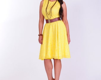 hello sunshine bright sunny yellow dress