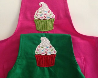 Child's Apron with Cupcake REDUCED